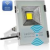 LEDMO Projecteur LED Detecteur 20W blanc froid 6000K projecteur led exterieur avec detecteur de mouvement Capteur Max.15m portée Lumière de sécurité IP65 imperméable pour jardin, portail, allée