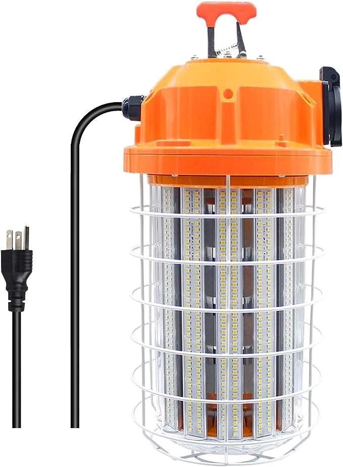 18,000 Lumens 150-Watt High Bay Temporary Job Site Hanging LED Work Light with 3