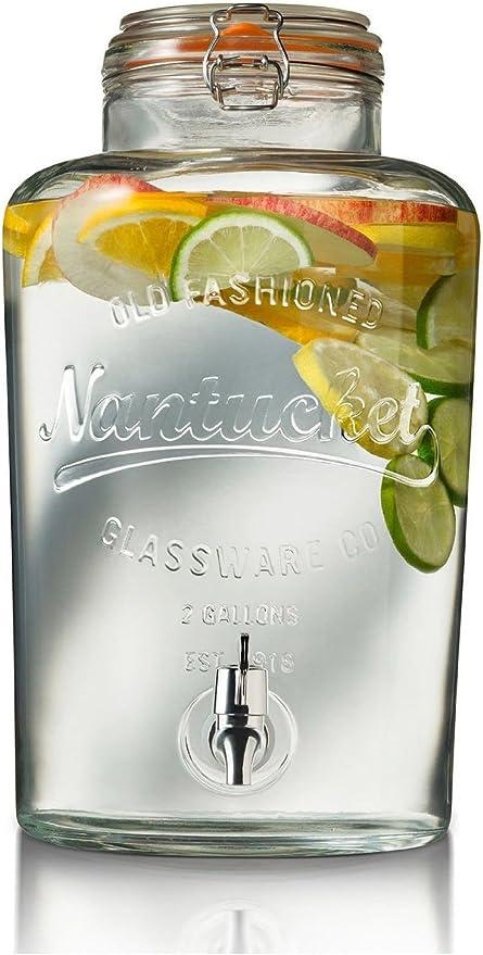 Beverage Nantucket Serveware Parties Fine Glass 2 Gallon Glass Drink Dispenser