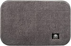 BDUCK Luxury Bath Mat Size 50x60cm Super Absorbent Water,Non-Slip,Machine-Washable,Soft, Shaggy and Cozy,Thick Modern for Bathroom & Bedroom by Torres Creation & Design (Grey)