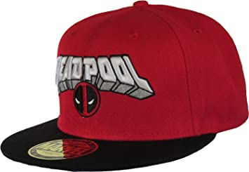 f5b5dbb5544a23 Marvel Deadpool Face and Logo Snapback Cap (Black/Red): Amazon.co.uk ...