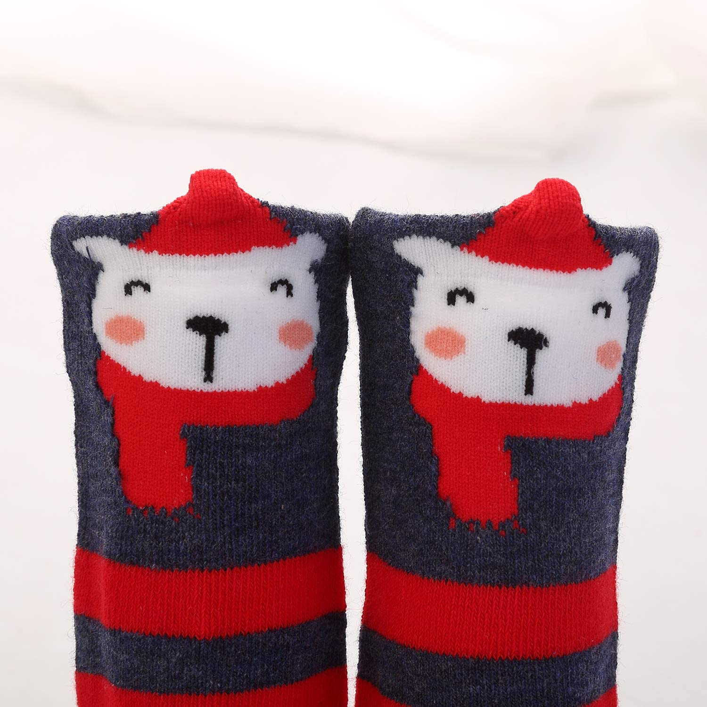 Soft Cozy Toddler Princess Cute Socks Infants Kids Baby Boys Girls Cartoon Animal Cotton Stockings TAGVO 3 Pairs Baby Girls Knee High Socks 1-3 years