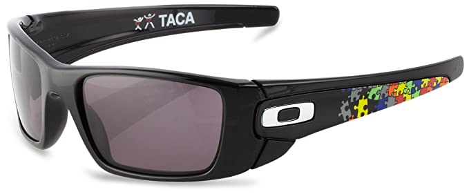 44c103912c3 Oakley Fuel Cell Sunglasses OO9096-11 TACA Signature - Polished Black Frame  With Warm Grey Lens  Amazon.co.uk  Clothing