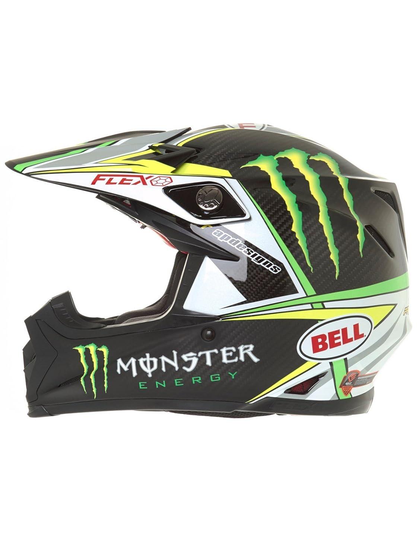 Bell Cascos MX 2017 Moto-9 Flex adultos casco, PRO circuito Monster Replica, talla 2 X S: Amazon.es: Coche y moto
