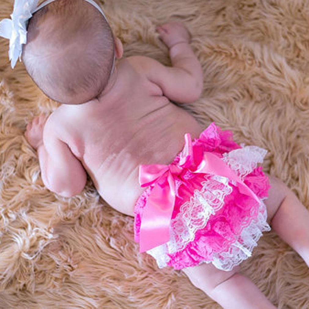 Lanhui Toddler Baby Girl Lace Ruffle Bloomer Nappy Underwear Panty Diaper Cover