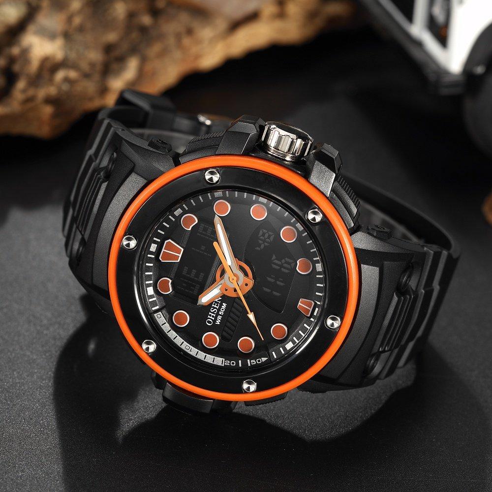 OHSEN AD1712 - Reloj digital multifuncional para hombre y mujer ...
