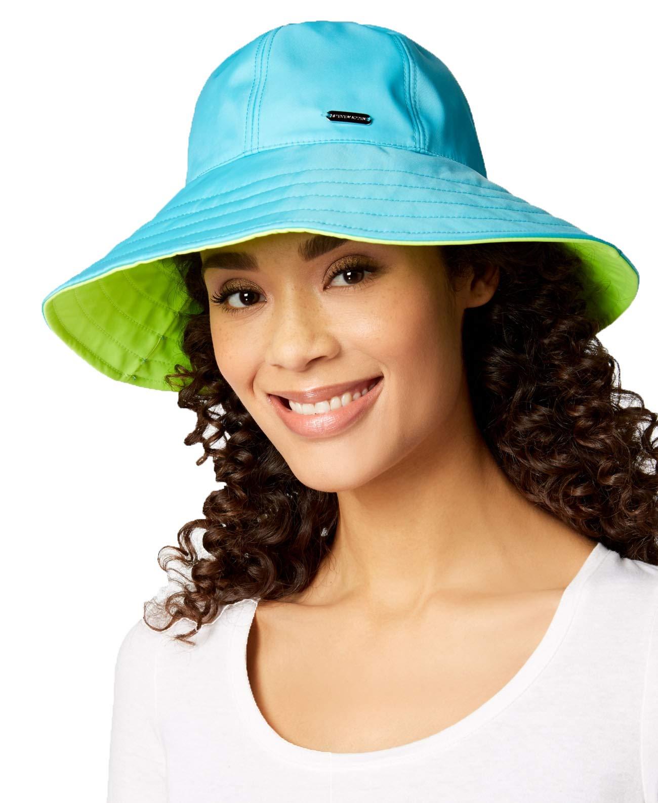 Steve Madden Reversible Floppy Rain Hat (Turquoise, One Size)