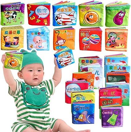 Soft Fabric Baby Picture Cloth Books Toy Children Kids Intelligence Development