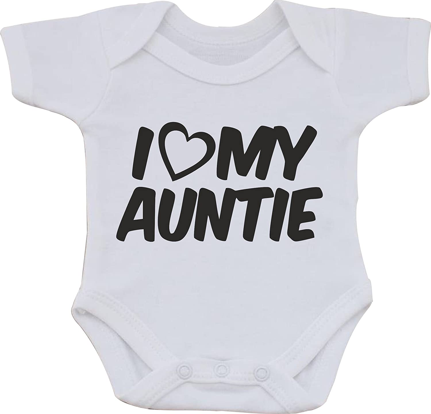 magic moments Love My Auntie Funny Humour Cotton White Baby Vest OR Bib