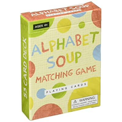 Imagination Generation Alphabet Soup Matching and Memory Card Game: Toys & Games