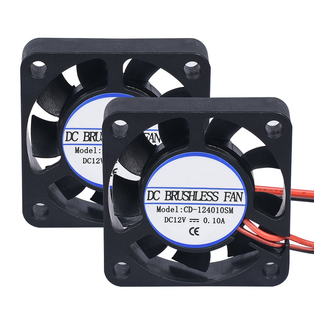 Witbot 40x40x10mm DC 12V 2 Pin Cooling Blower Brushless Mini Fan for 3D Printer (Pack of 2pcs)