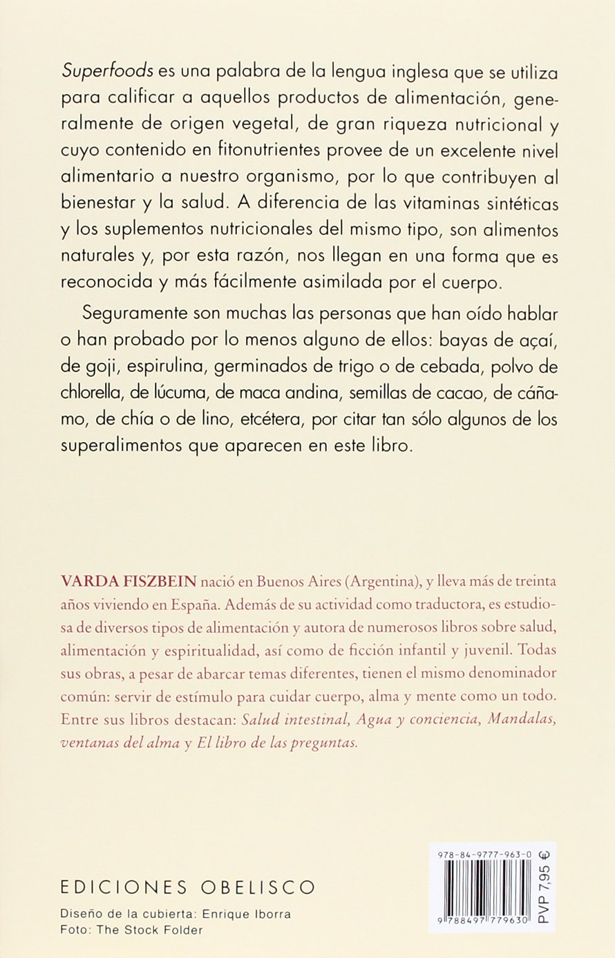 Superalimentos (Spanish Edition): Varda Fiszbein: 9788497779630: Amazon.com: Books
