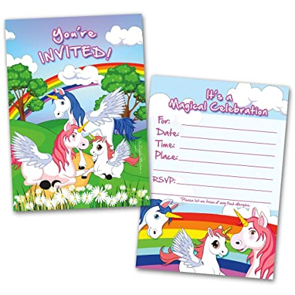 Amazon Com Party Invitation Cards 20 Cards With 20 Envelopes