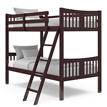 Details about  /Storkcraft Caribou Twin-over-Twin Hardwood Bunk Bed
