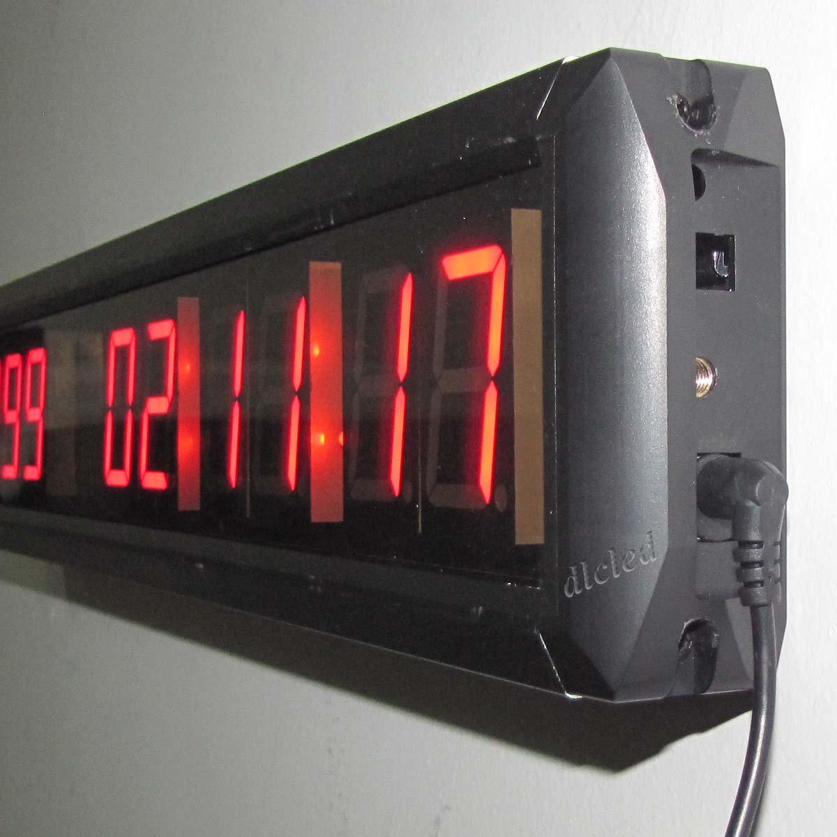 Amazon ledigtal led days countdown clock red color 18 10 amazon ledigtal led days countdown clock red color 18 10 digits count up to 10000 days with hours minutes seconds led large digital countdown clock amipublicfo Gallery