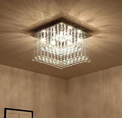 Saint Mossi Modern K9 Crystal Lámpara de araña de lluvia ...