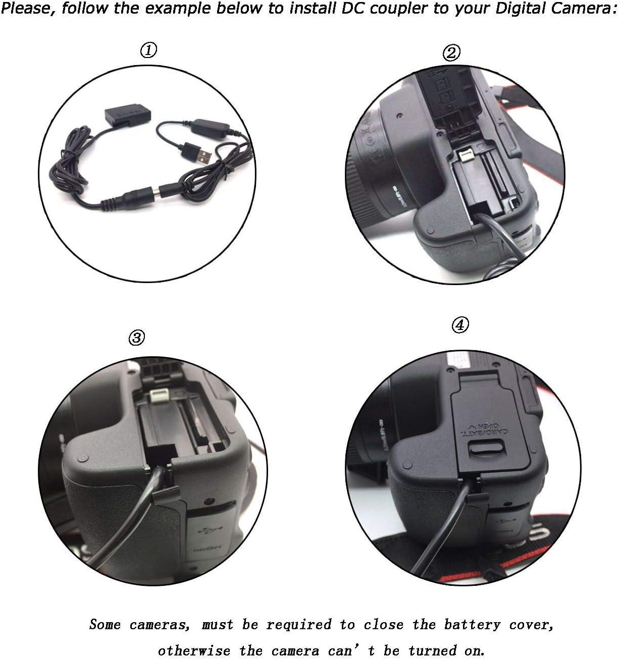 Adapter for Lumix DMC-GH3 DMC-GH4 DMC-GH5 Mobile Power USB Charger Cable DMW-DCC12 DMW BLF19E BLF19 Dummy Battery