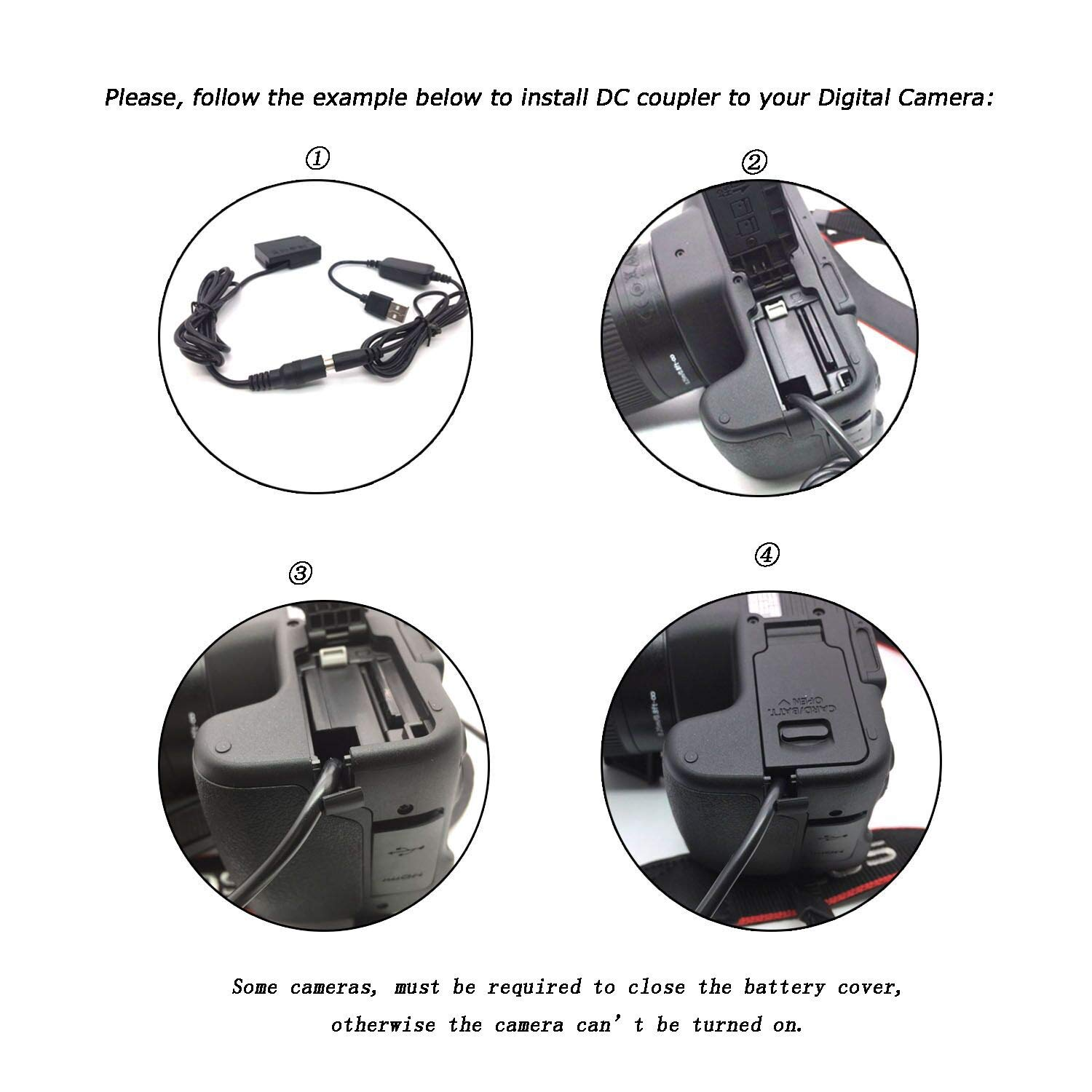 3A Power Charger Kit for Fujifilm X-PRO1 X-E1 HS33 X-T1 HS50 NP-W126 CP-W126 Dummy Battery Mobile Power 5V USB Cable DC8.4V
