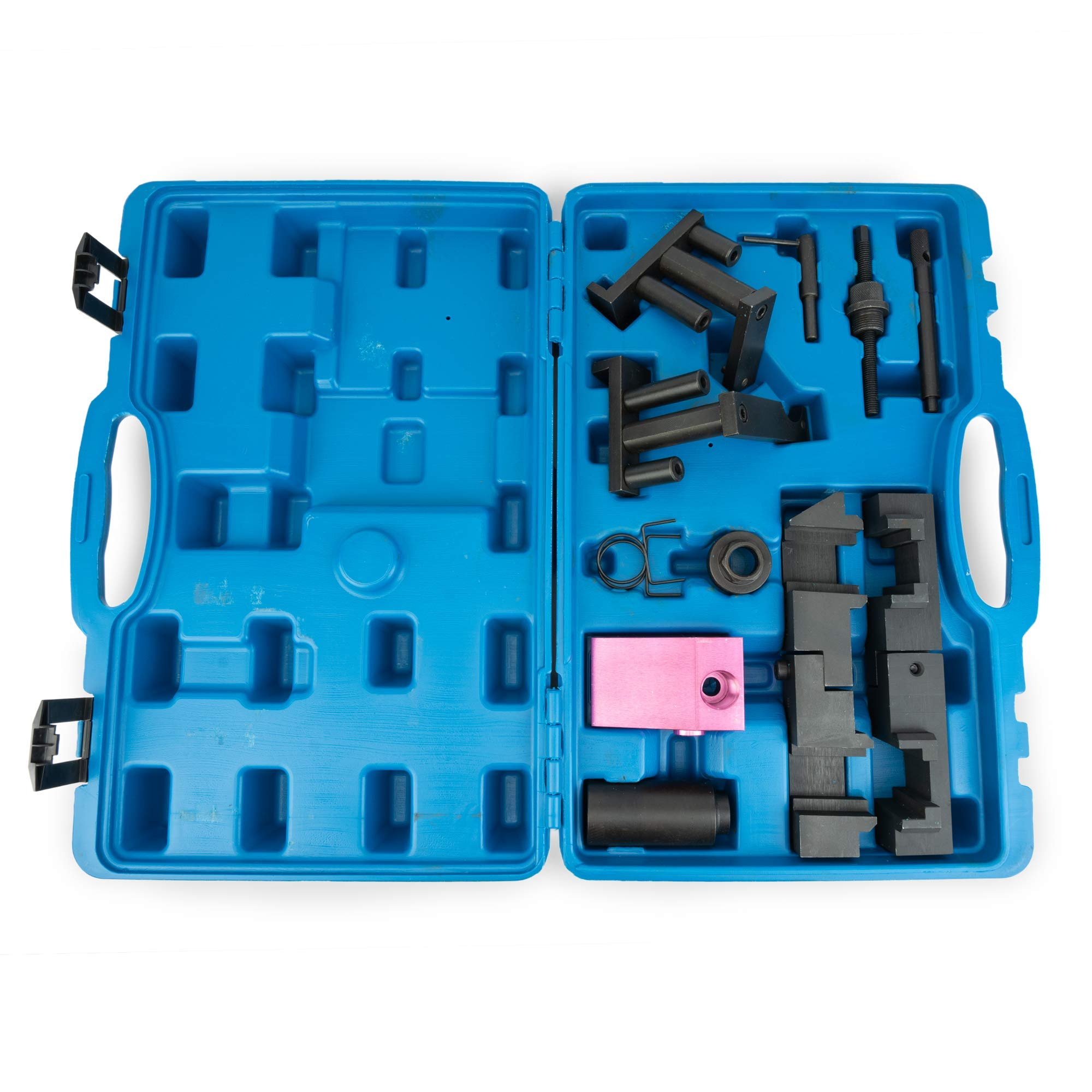 Variable Valve Timing Locking Tool Kit - Compatible With BMW M60, M62 Engines - VANOS Electromagnetic Valve Camshaft Alignment - Pin, Tensioner, Socket, Trestle, Fixture, Locking Tool & Springs by Delray Auto Parts (Image #5)