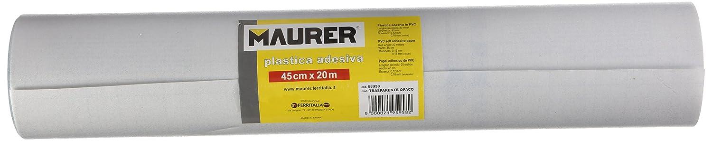 Maurer 5540602 Feuille adhé sive transparent opaque, 45 cm x 20 m