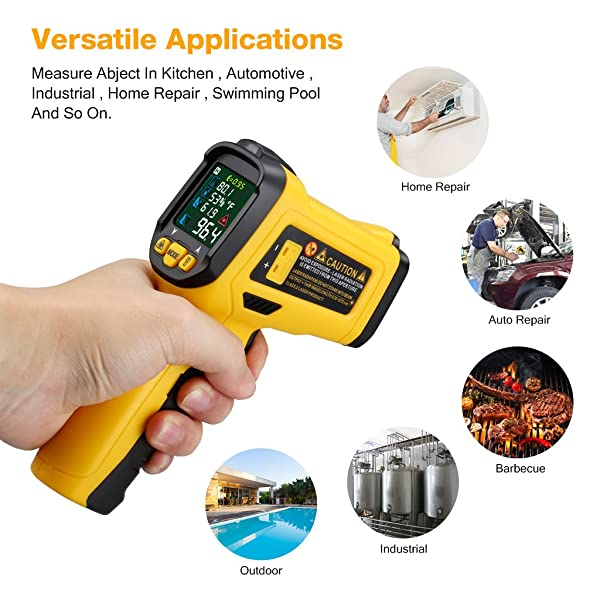 The URCERI Digital IR is one of the best infrared thermometers for domestic use.