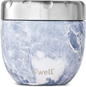 S'well Stainless Steel Bowls-21.5 Oz Triple-Layered Vacuum-Insulated Containers Keeps Food and Drinks Cold for 11 Hours and Hot for 7 - with No Condensation - BPA Free, 21.5oz, Blue Granite