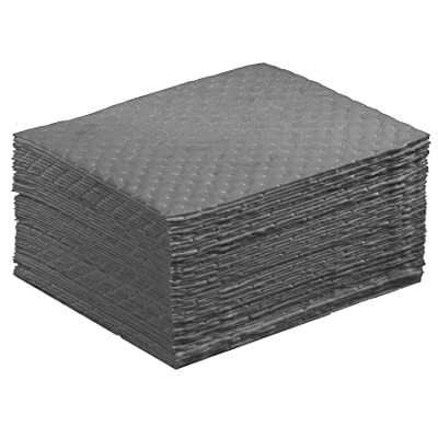 "NPS Spill Control 1AMGPL Airmatrix Polypropylene Heavy Weight Maintenance Universal Absorbent Laminated Pad, 18"" Length x 16"" Width, Gray (100 Per Bale): Industrial & Scientific"