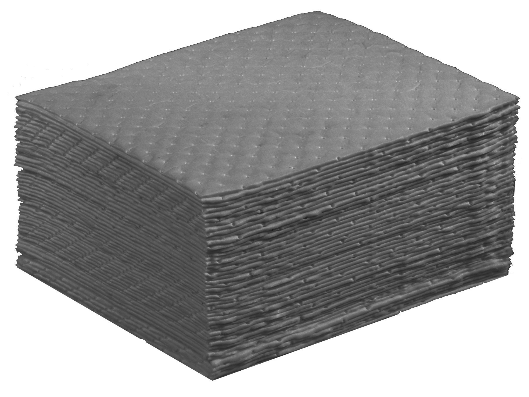 ESP 1AMGPL Airmatrix Polypropylene Heavy Weight Maintenance Universal Absorbent Laminated Pad, 18'' Length x 16'' Width, Gray (100 Per Bale) by ESP