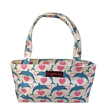 aa287f1ef386 Bungalow360 Vegan Cotton Canvas Mini Bag Purse (Dolphin)