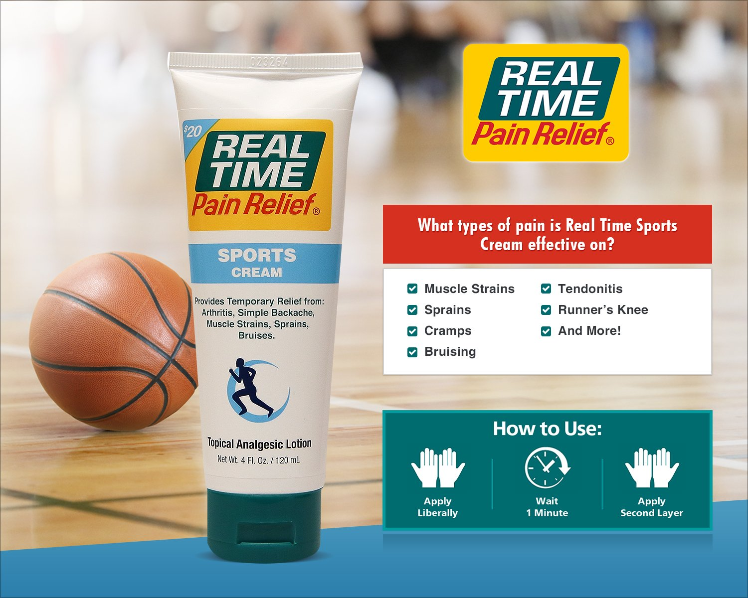 Real Time Pain Relief Stay Active Pack, Sports Cream, Daily Relief, MAXX Relief, 10 Pain Cream Travel Packs by Real Time Pain Relief (Image #3)