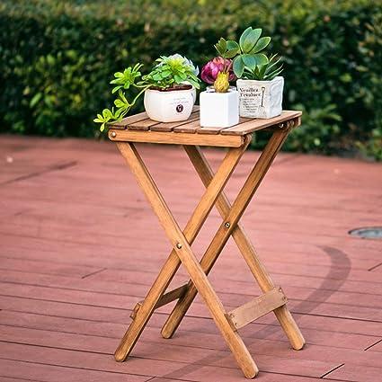 Amazon.com: CWJ Flower Rack Nordic Simple Solid Wood Flower Racks ...
