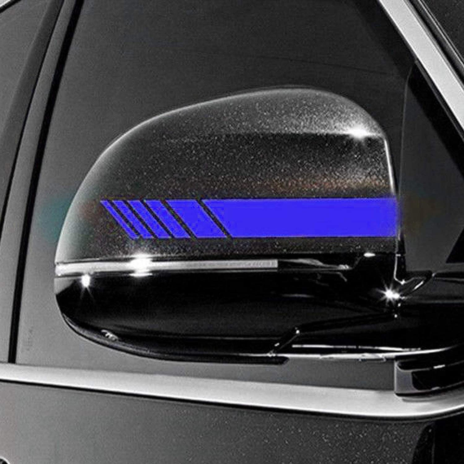 Xotic Tech 2pcs Silver Vinyl Decals Rearview Mirror Stripe Stickers for Mercedes Benz W204 W212 C Class etc.