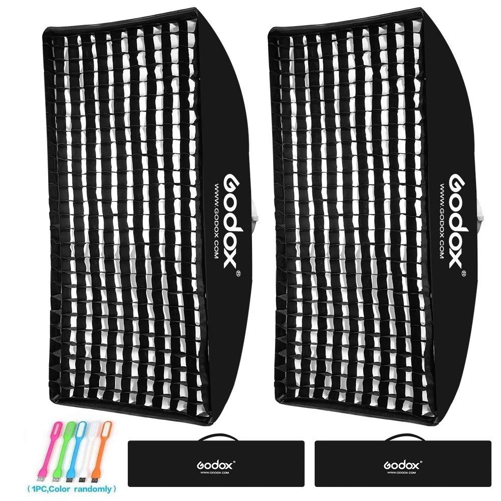 Godox 60x90cm / 24x36 inches Rectangular Portable Softbox Lighting Honeycomb Grid Beehive & Bowens Mount Speedring for Speedlite Studio Flash Monolight,Portrait and Product Photography (2PCS) by Godox