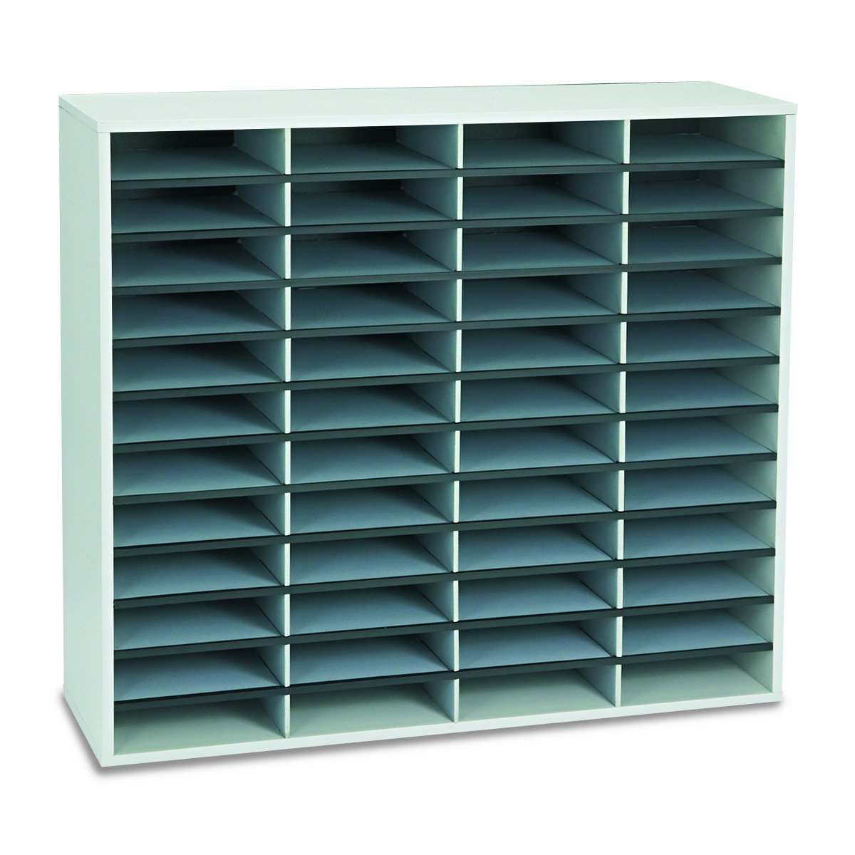 Fellowes 25081 Literature Organizer, 48 Letter Sections, 38 1/4 x 11 7/8 x 34 11/16, Dove Gray