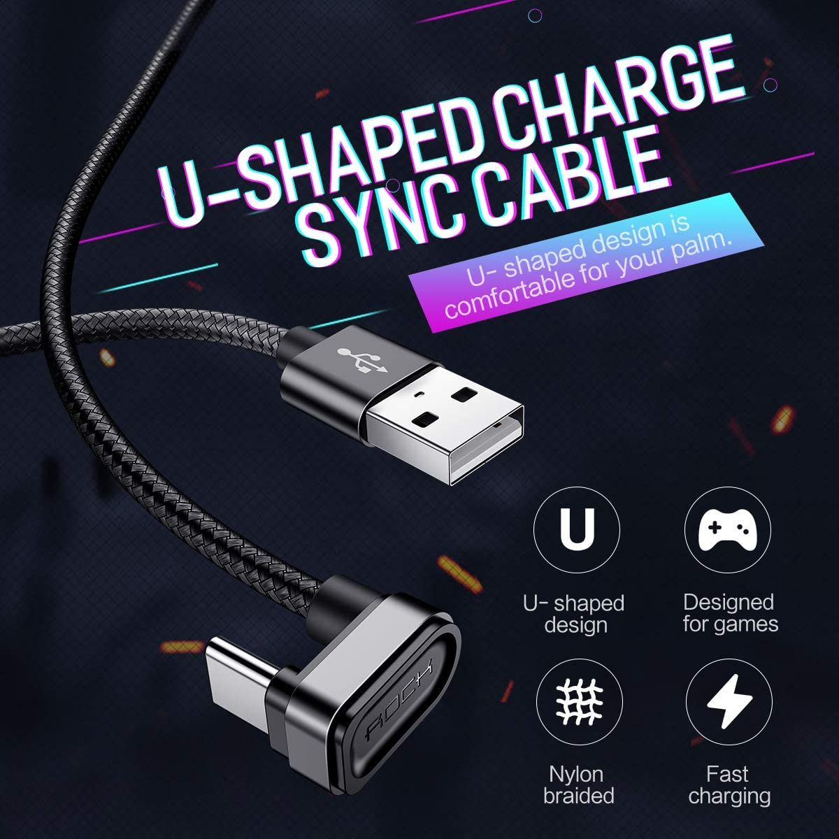 Nexus 5X // 6P Black iQOS Cetoom 1m Charger Cable Aikos Galaxy S9 // S8 // A3 // A7 // A9 // C9 // C5 // 7pro // C9 5V // 2.0A Metal Braided USB Type C Data Cable for Sony Xperia XZ // XZ2
