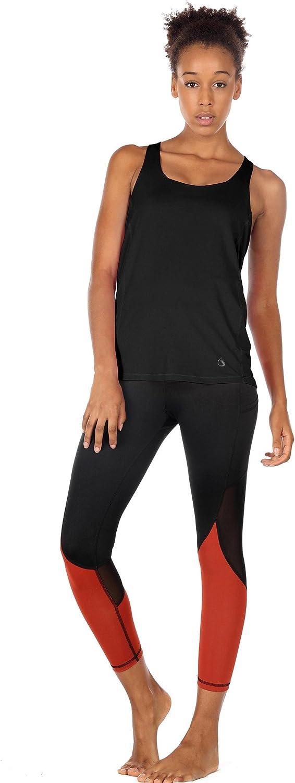 M, Florida Keys icyzone 2 in 1 Reggiseno Sportivo Canotte Donna per Yoga Fitness Jogging