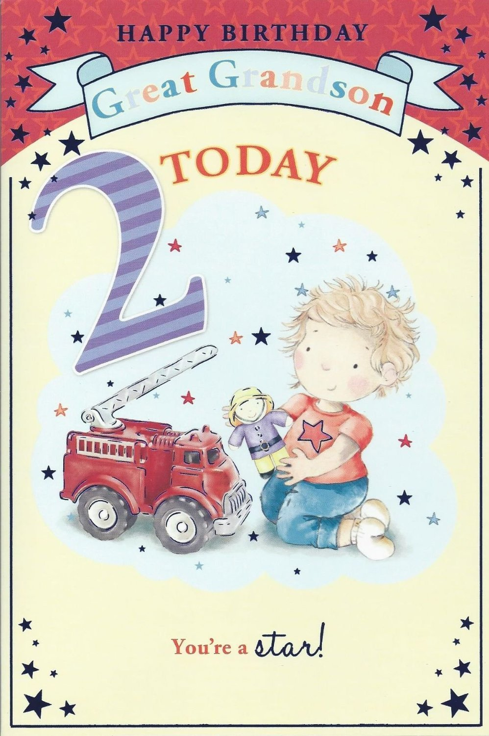 Grandsons 2nd Birthday Card 2 Today Little Boy Bear Driving – 2nd Birthday Cards