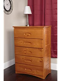 American Furniture Classics 2155 Five Drawer Chest Dressers  Amazon com
