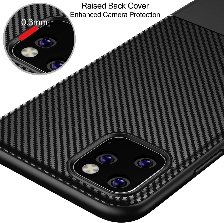 Losvick Coque iPhone 11 Pro Max 2019 Argent/é Silicone Souple TPU Transparente Antichoc Bumper Protection Mince Mat Placage Etui Cover pour iPhone 11 Pro Max 6.5 2 Pi/èces Verre Tremp/é Protecteur