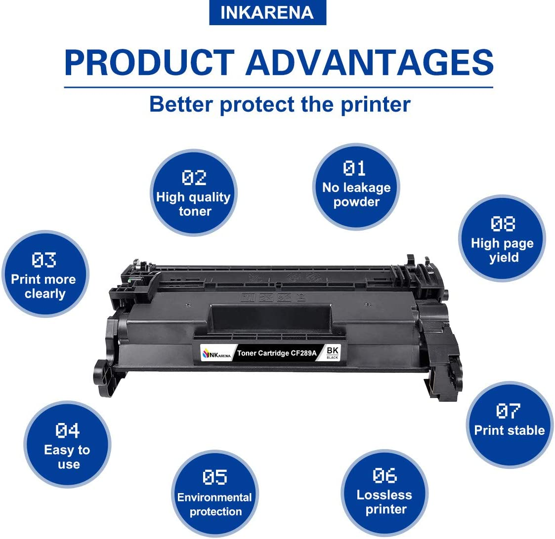 M507n Black, 2-Pack,NO CHIP HP MFP M528 M507x,M507dng M507dn Arcon Compatible Toner Cartridge Replacement for HP 89A CF289A 89X CF289X HP M507dn M528dn HP Laserjet Enterprise M507 MFP M528dn
