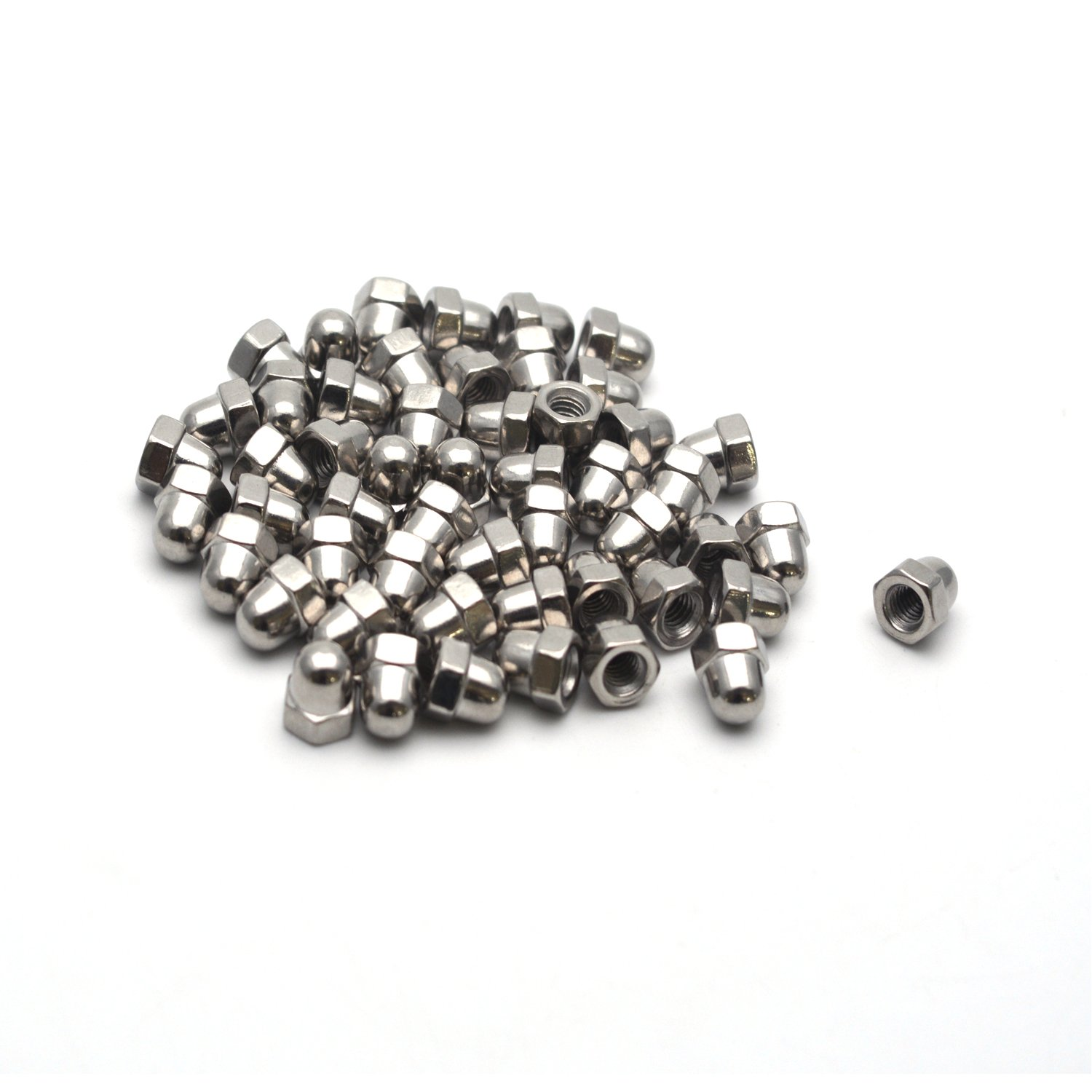 3//8-16 Thread Dia Dome Cap Head Nickel Plating Carbon Hex Nuts Screws Bolts 20-Pack Antrader Steel Acorn Nut