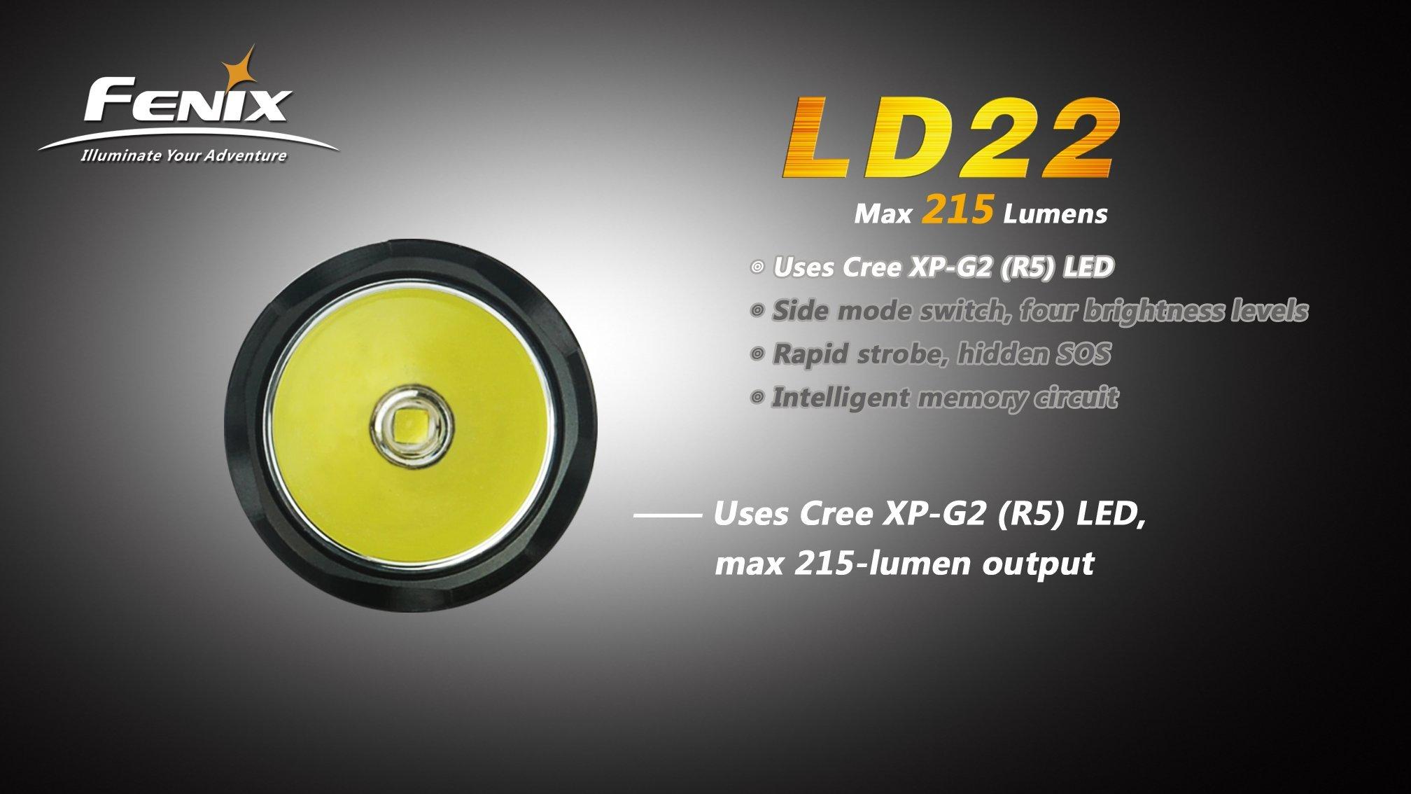 Fenix LD22 Flashlight, Black by Fenix (Image #9)
