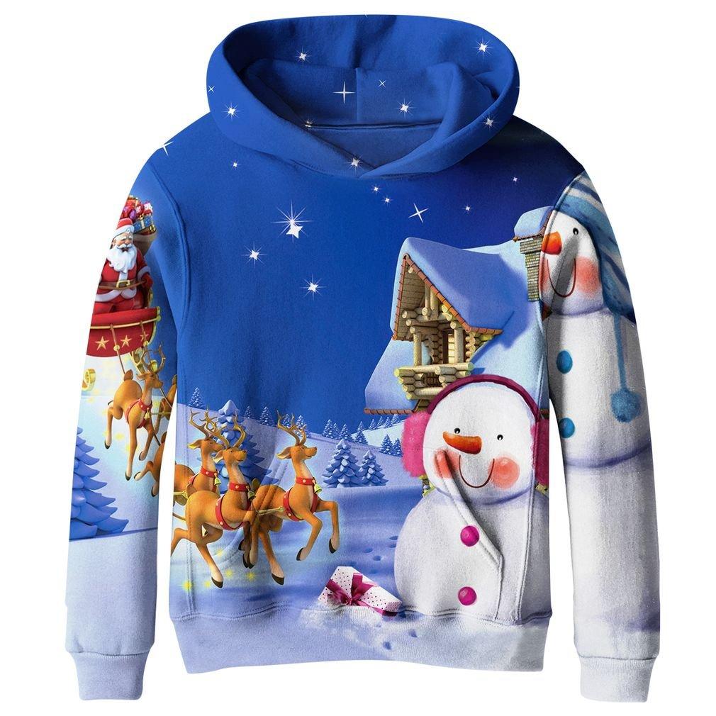 SAYM Boys'Teen Youth Galaxy Fleece Sweatshirts Pockets Cotton Hoodies 4 16Y
