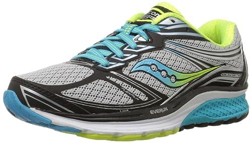 Saucony Women's Guide 9-W Running Shoe, Grey/Blue/Citron, ...