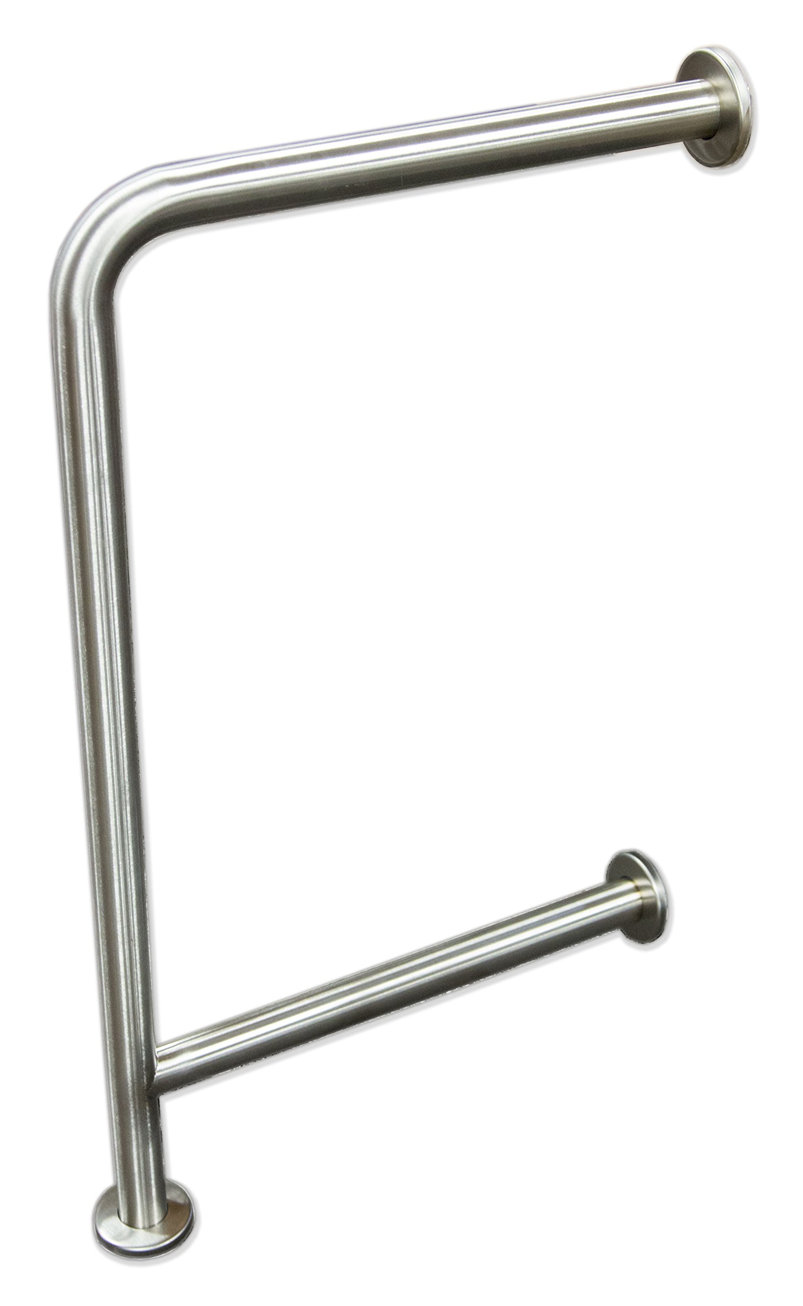 Wall to Floor Grab Bar for Drinking Fountains