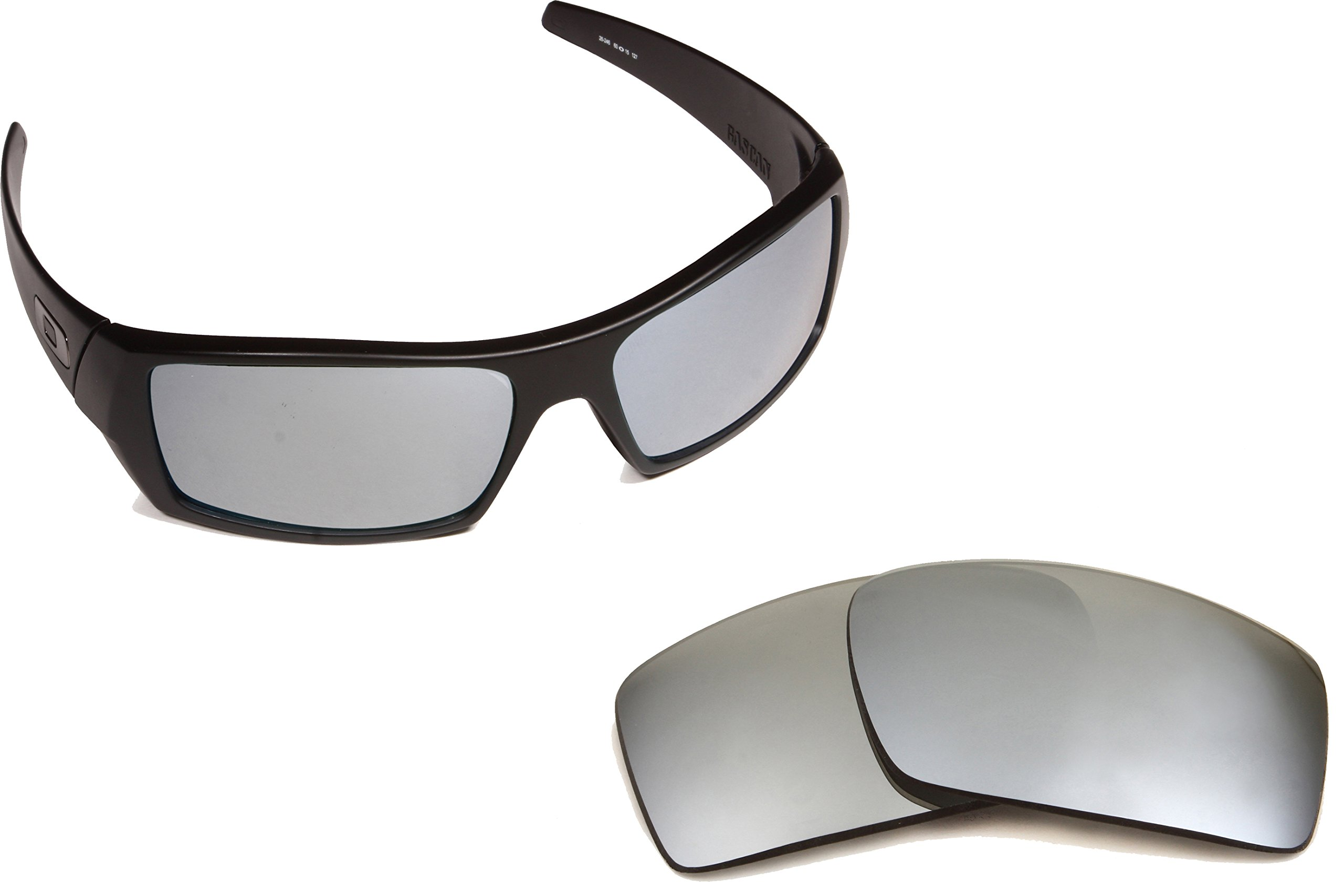Best SEEK OPTICS Replacement Lenses Oakley GASCAN - Polarized Silver Mirror by Seek Optics