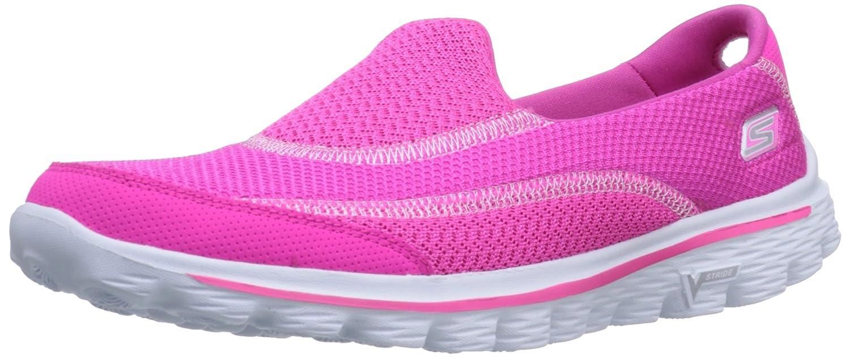 Skechers Damen Go Walk 2 Linear Sneakers  39 EU|Pink (Hpk)