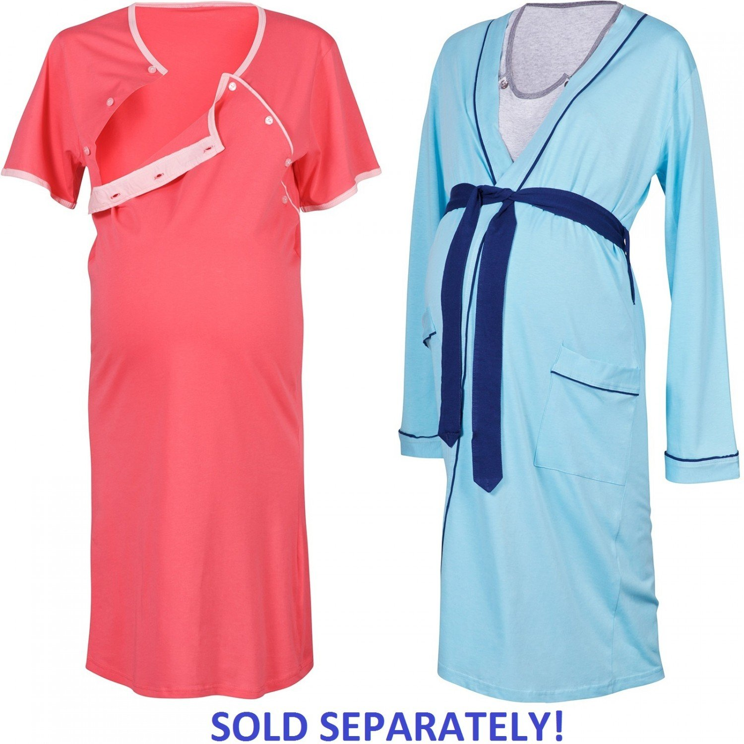 Happy Mama Maternity Gown Robe Nightie for Labour & Birth. SOLD ...