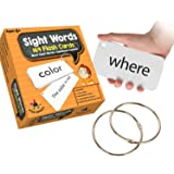 Star Right Sight Words Flash Cards, 169 Sight Words and Sentences With 2 Rings