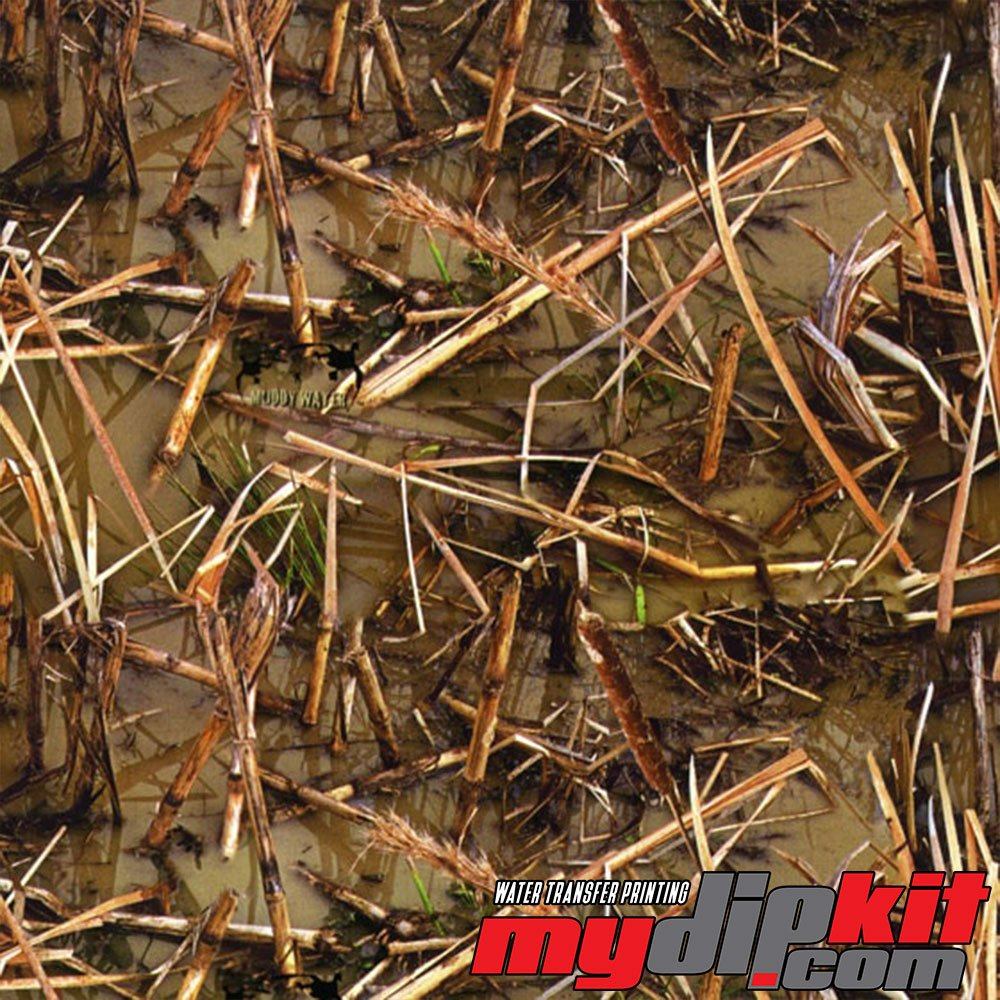 Water Transfer Printing Film - Hydrographic Film - Hydro Dipping - Muddy Waters Camo - RC-612 MyDipKit